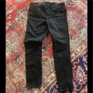 Madewell skinny gray/black jeans